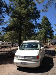 Camping at Williams, Arizona, the start of my summer and cross country road trip.  It was an awesome summer.  I hated it to end.