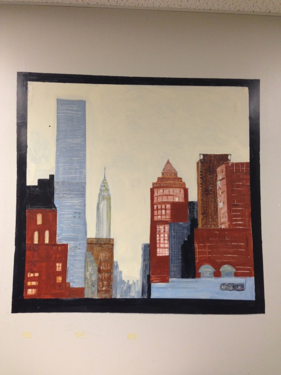 Mural in Matt's Office, Looking down Lexington Avenue.