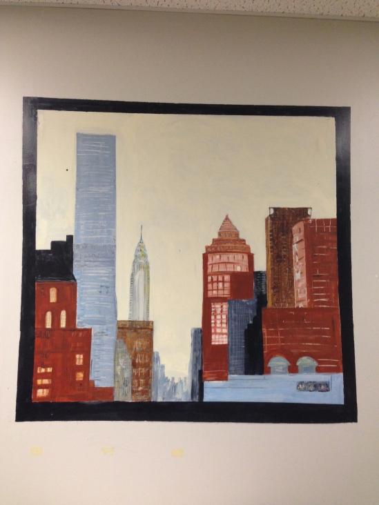 Mural in Matt's Office, Looking down Lexington Avenue.