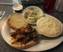 Grits and pulled pork. I love this stuff.