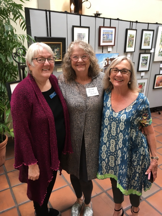 My 2 friends at Artist's Reception for Garden Tour
